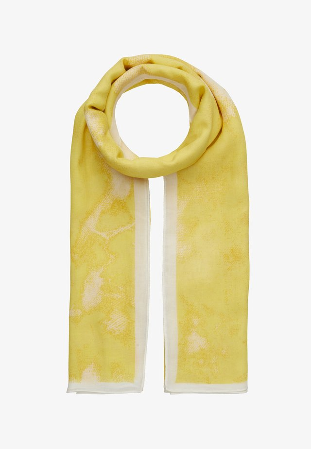 TIE DYE SQUARE SCARF - Tuch - pastel yellow