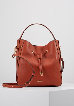 VICTORIA - Handtasche - med orange