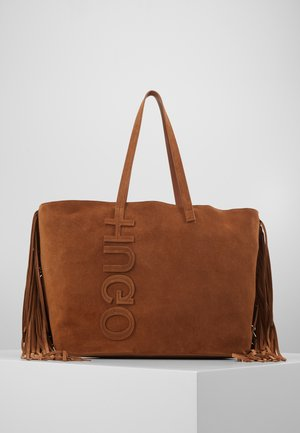 CHELSEA SHOPPER SUEDE FRINGE - Shopping bag - med brown