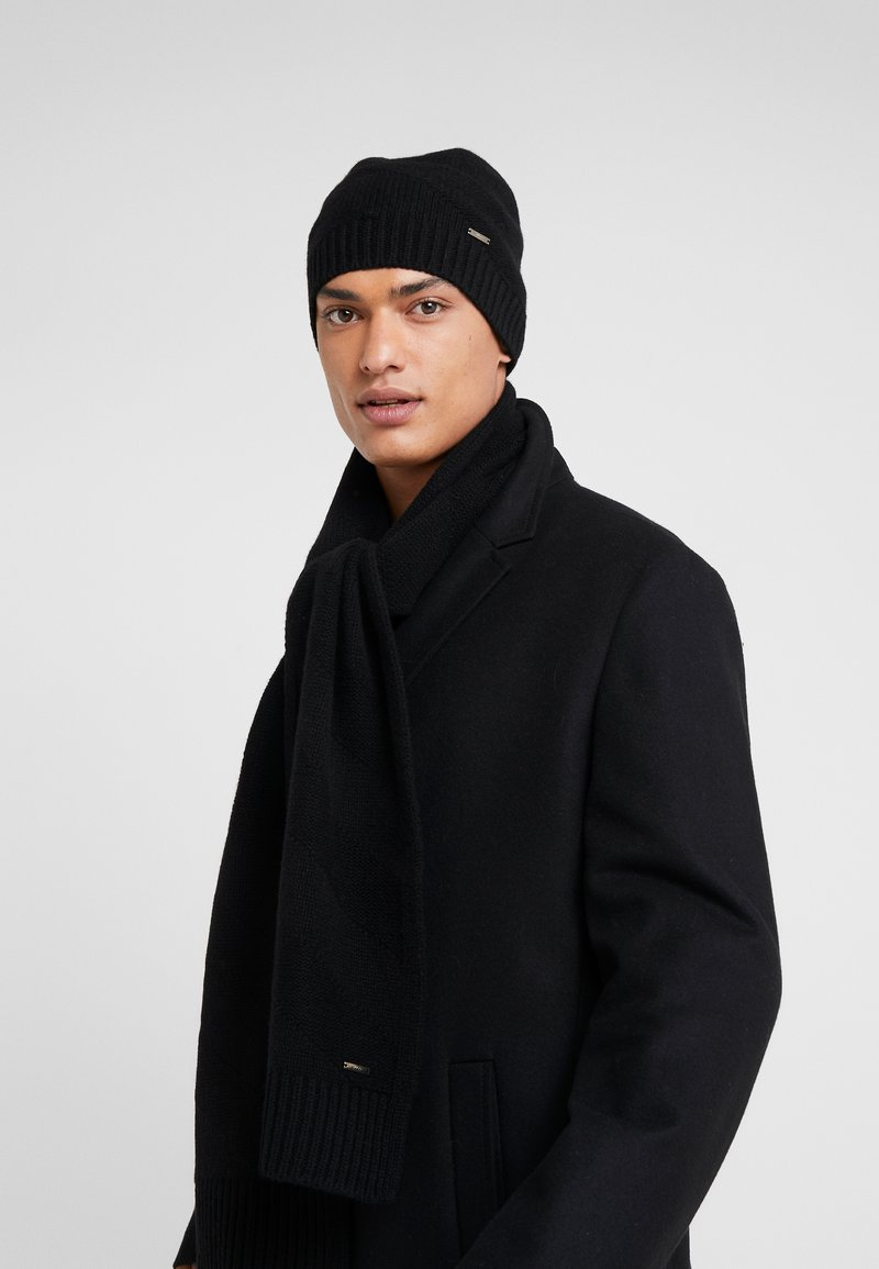 HUGO - ZANTO SET  - Scarf - black