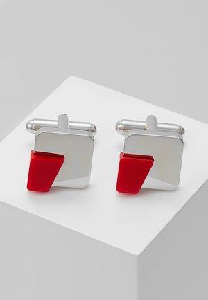 DUAL - Manžetové knoflíčky - medium red