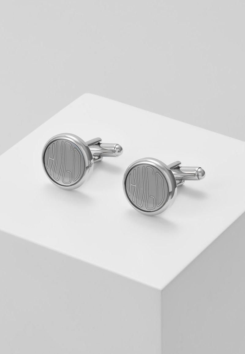 HUGO - BUTTON - Manžetové knoflíčky - silver-coloured