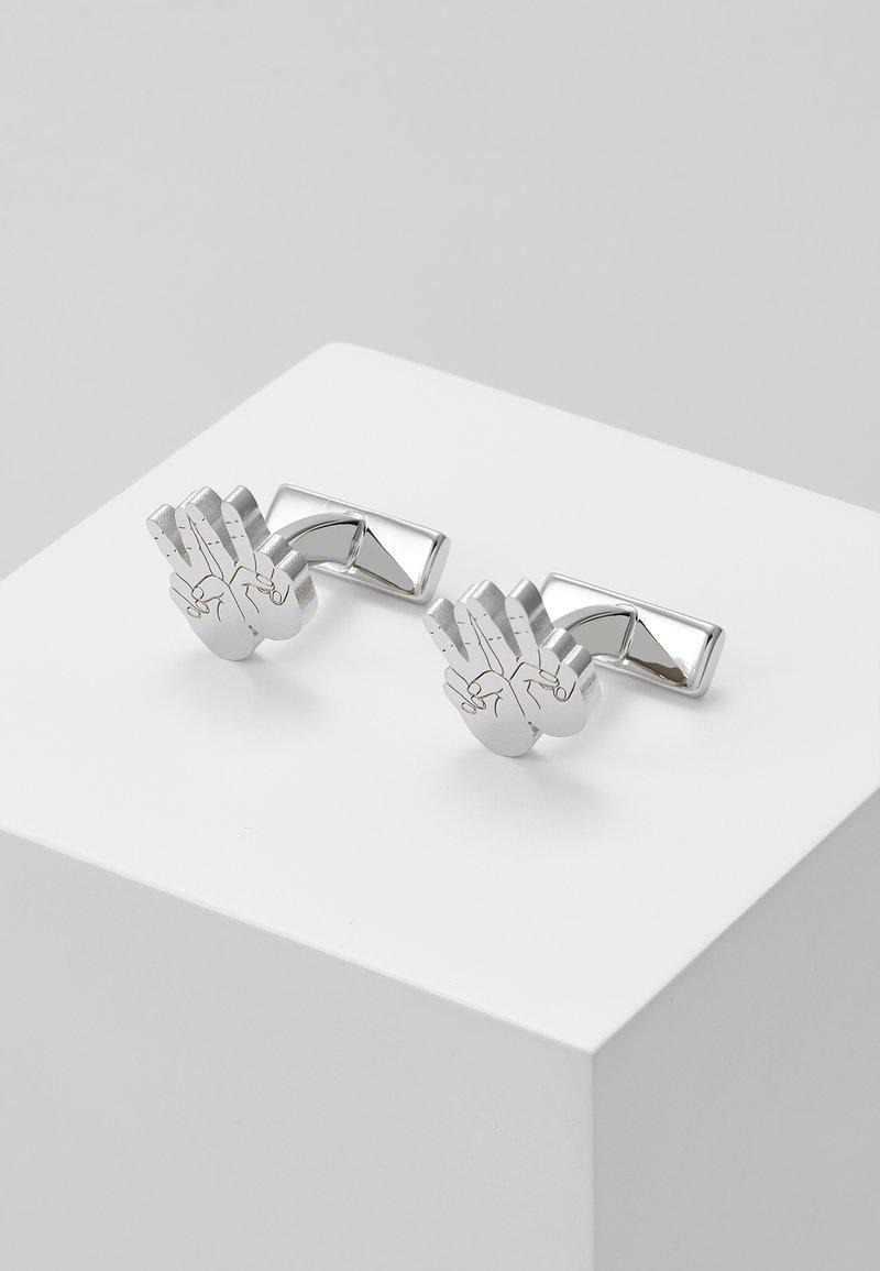 HUGO - HAND - Manžetové knoflíčky - silver-coloured