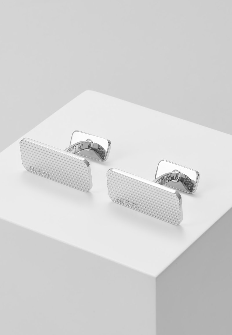HUGO - THIN  - Manschettenknopf - silver-coloured