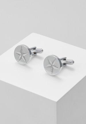 E-STARROUND - Manžetové knoflíčky - silver-coloured
