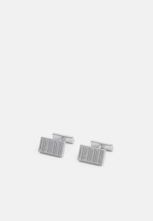 E-LOGO - Kalvosinnapit - silver-coloured