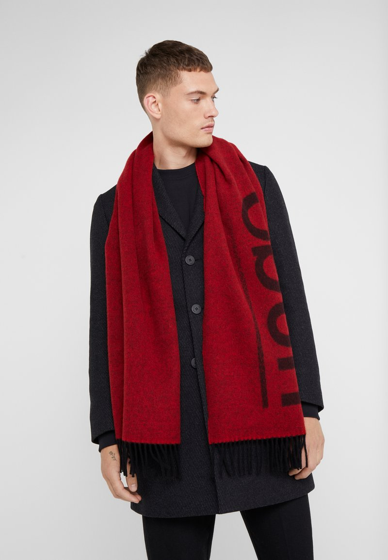 HUGO - Foulard - red/black logo