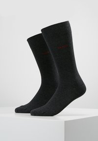 HUGO - 2 PACK - Calcetines - charcoal - 0