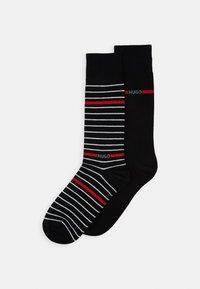 HUGO - LOGO LINE 2 PACK - Socken - black - 0