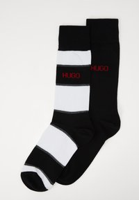 HUGO - STRIPE 2 PACK - Sokker - black - 0