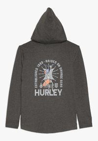 Hurley - HOOD PLAY PULLOVER - Hoodie - charcoal heather - 1