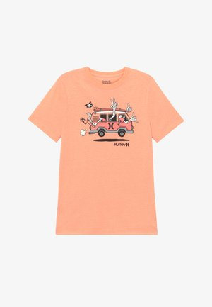 AHOY TEE - T-shirt print - bright mango heather
