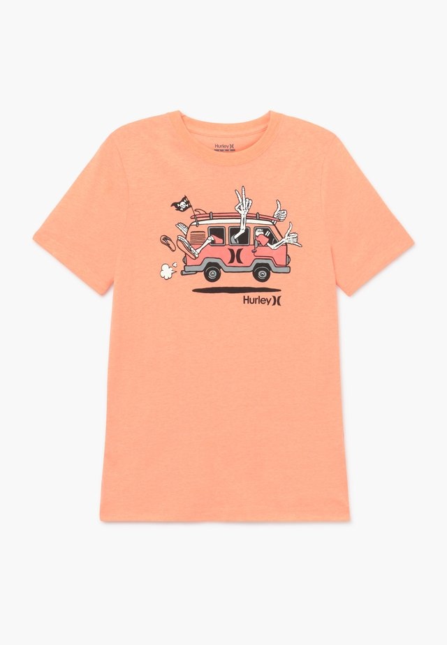 AHOY TEE - Print T-shirt - bright mango heather