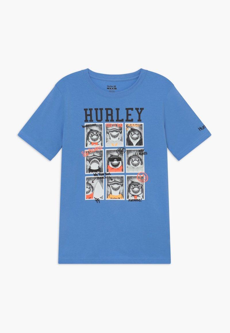 Hurley - CLASS  - T-shirt print - light blue