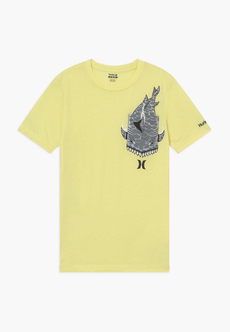 Hurley - GREAT  - Print T-shirt - luminous green