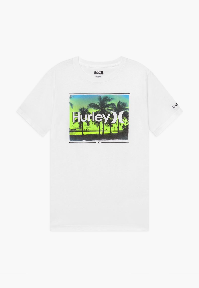 Hurley - OPEN MIND  - T-shirt print - white