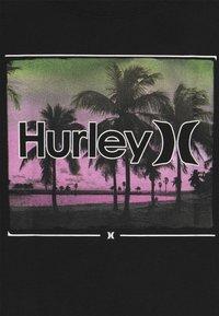 Hurley - OPEN MIND  - T-shirt print - black - 3