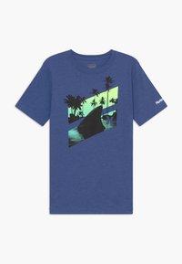 Hurley - SHARK SLASH  - T-shirt print - delft heather - 0