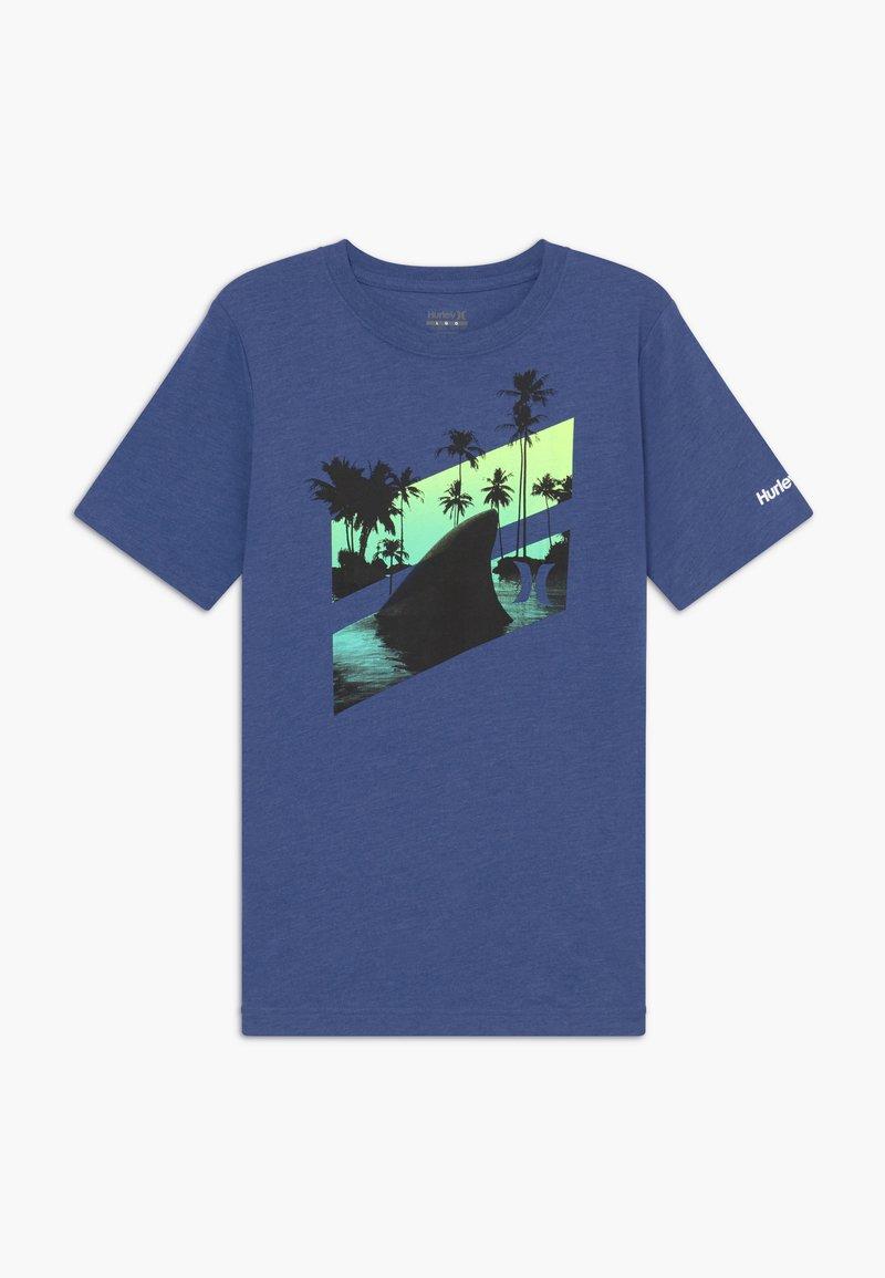Hurley - SHARK SLASH  - T-shirt print - delft heather