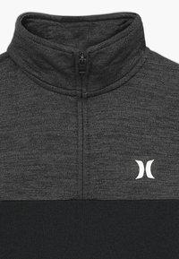 Hurley - SOLAR 1/2 ZIP - Sweatshirt - black heather - 3
