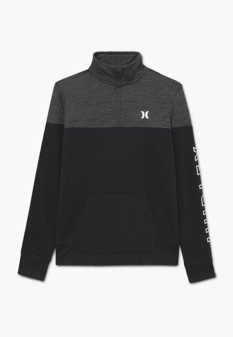Hurley - SOLAR 1/2 ZIP - Sweatshirt - black heather