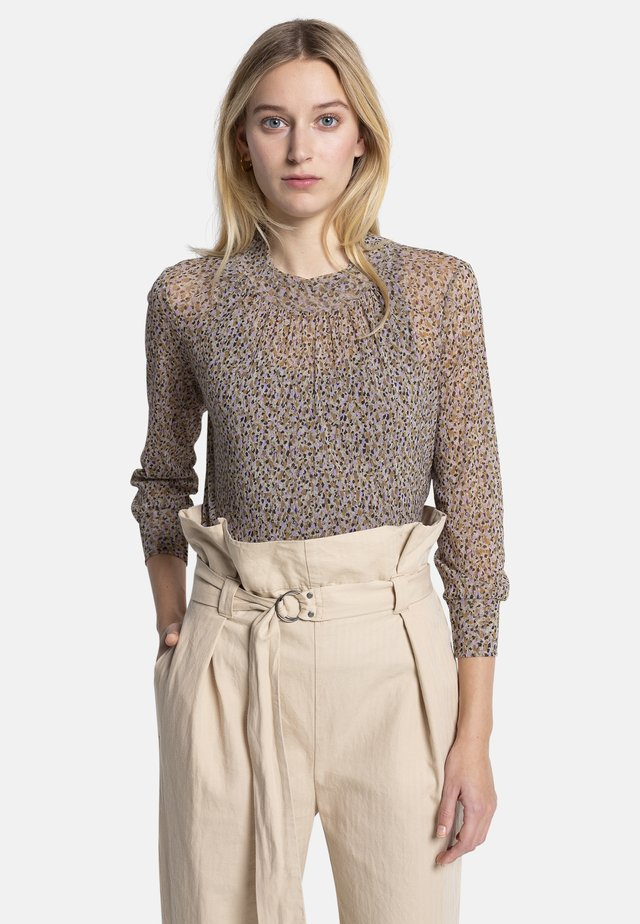 FLORA - Blouse - brown/beige