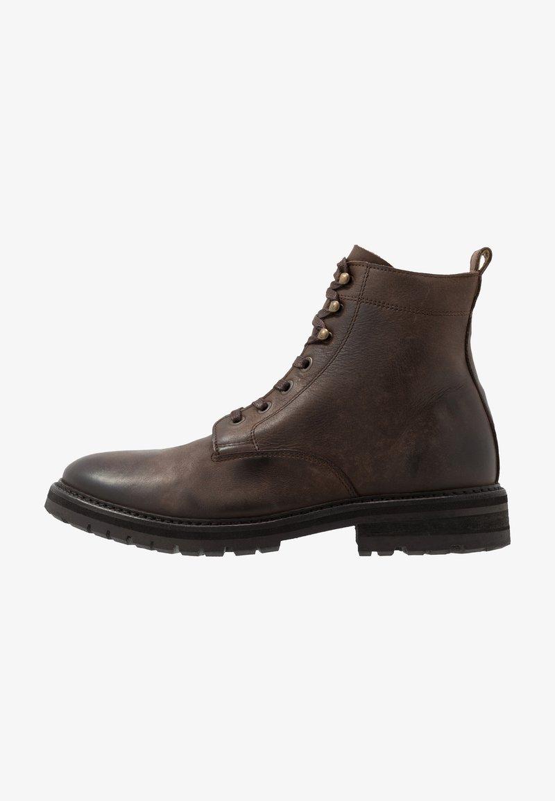 Hudson London - ABLE - Šněrovací kotníkové boty - brown