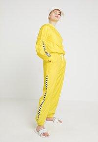 Hummel Hive - HMLANJA PANTS - Tracksuit bottoms - golden kiwi - 1