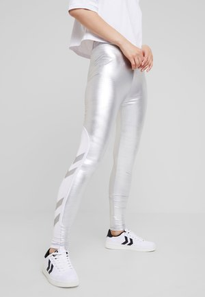 CHARLOTTE TIGHTS - Leggings - Trousers - silver