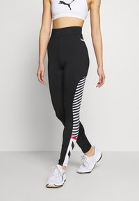 Hummel Hive - HIGH WAIST - Leggings - black - 0