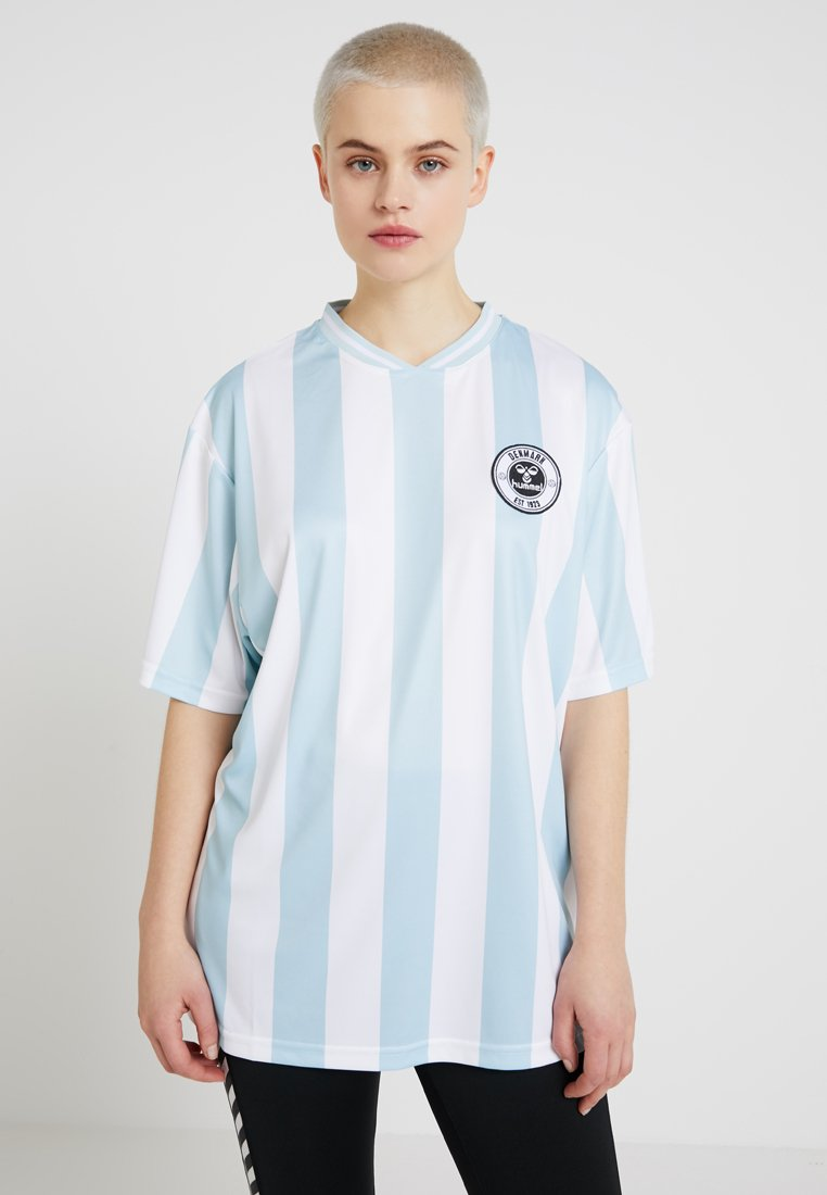 Hummel Hive - T-shirt med print - light blue