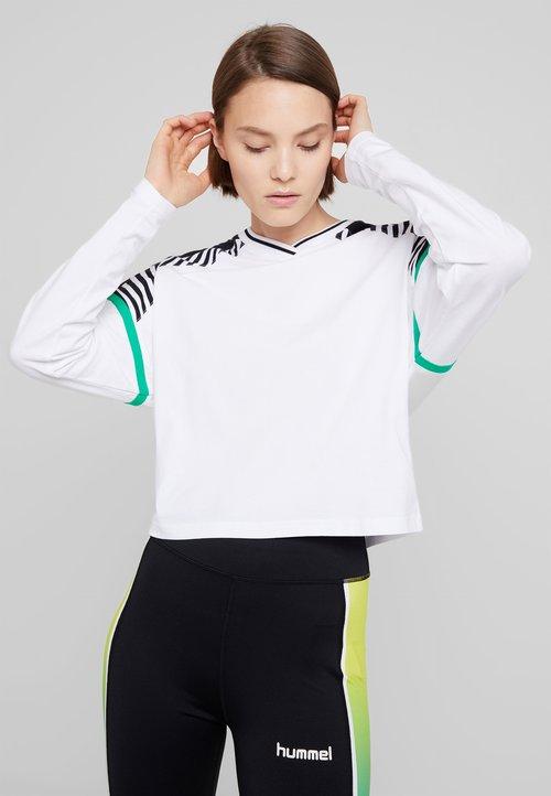 Hummel Hive CATE - Bluzka z długim rękawem - white Koszulki i Topy DVNN-EY9 85% ZNIŻKI