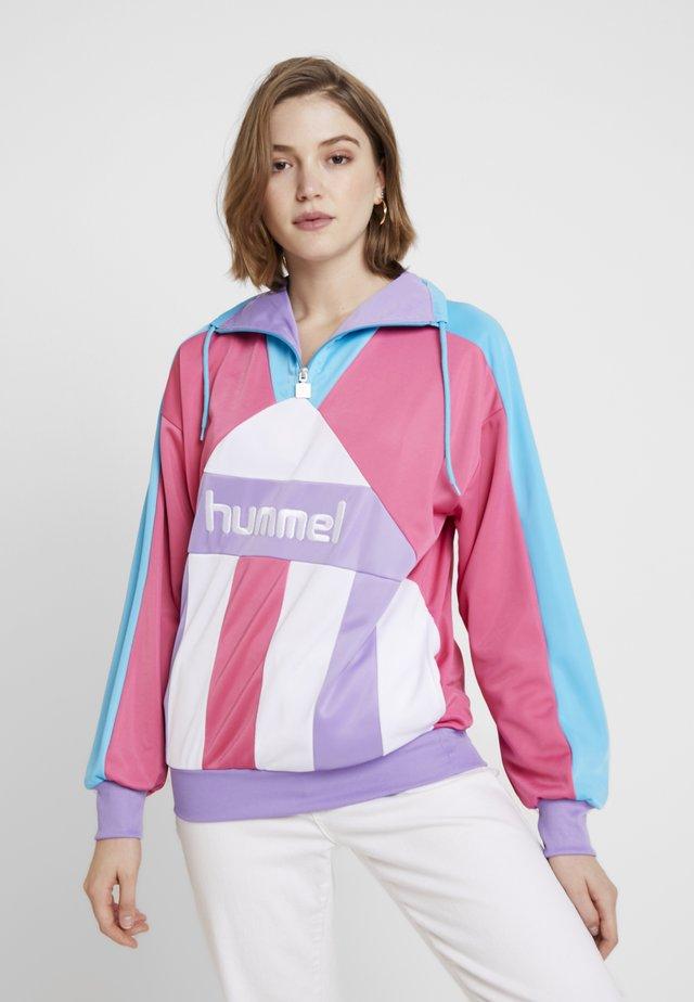 SANDY ZIP - Sweatshirt - shocking pink