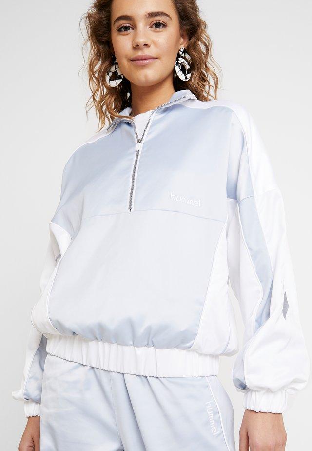 HMLDIANA HALF ZIP JACKET - Treningsjakke - white