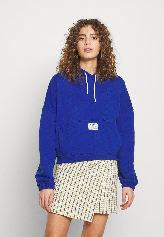 HMLVIG LOOSE HOODIE - Huppari - mazarine blue