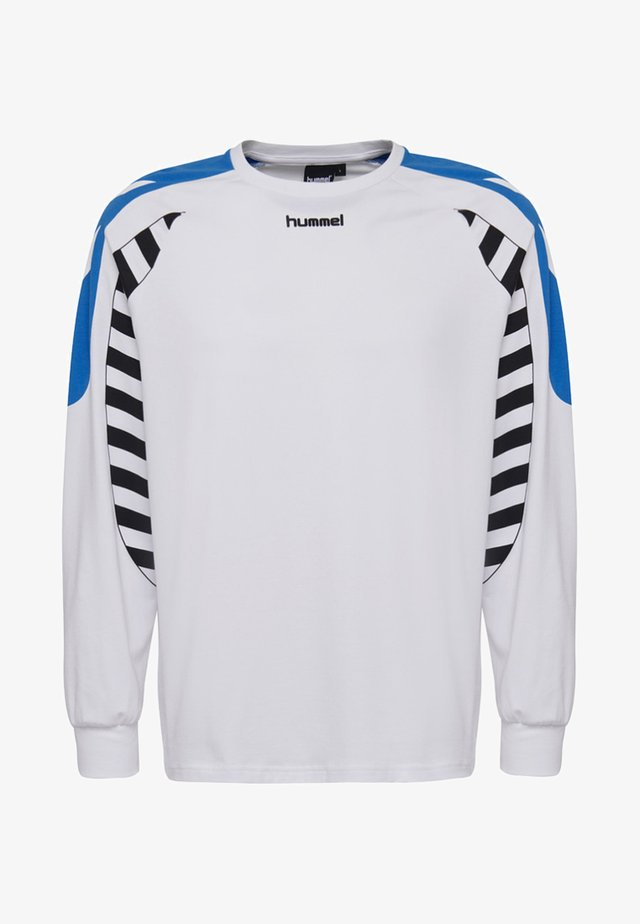 HIVE HMLCALVIN T-SHIRT L/S - Long sleeved top - white