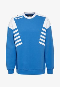 Hummel Hive - HIVE HMLCARL-OTTO SWEATSHIRT - Sweatshirt - french blue - 0
