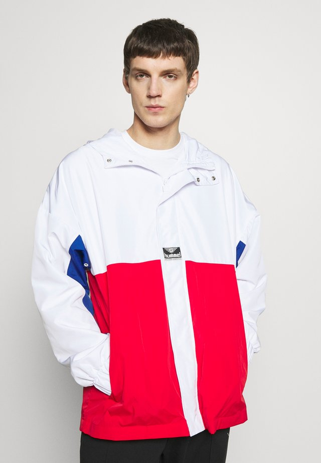 HMLVEJR LOOSE ZIP JACKET - Lehká bunda - white