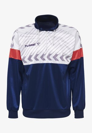 HIVE HMLBECK HALF  - Langærmede T-shirts - dark blue/white