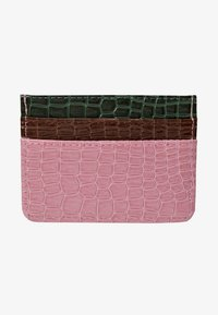 HVISK - CARD HOLDER CROCO - Lommebok - pink - 1