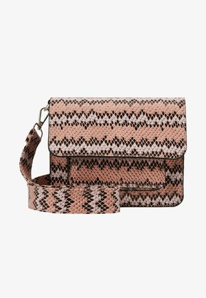 CAYMAN SNAKE POCKET - Across body bag - pink