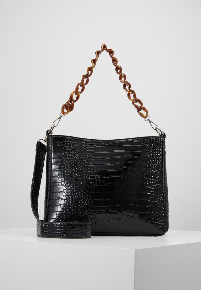 AMBLE CROCO - Handbag - black