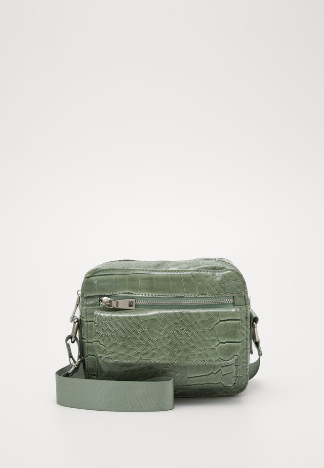 HALLI CROCO - Sac bandoulière - dusty green