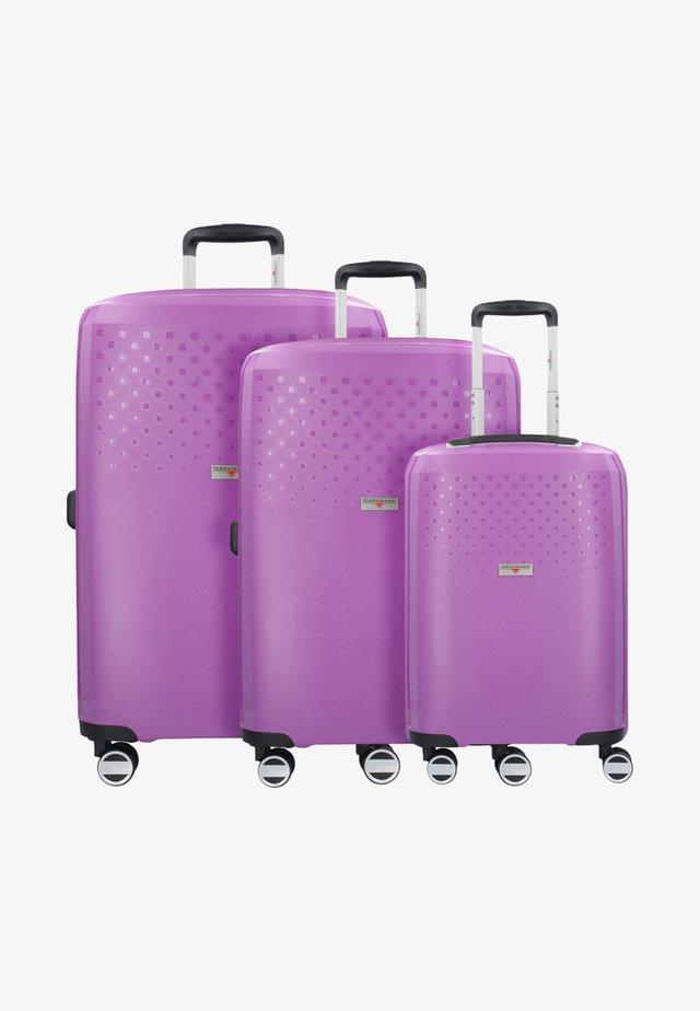 BUBBLES - Luggage set - purple