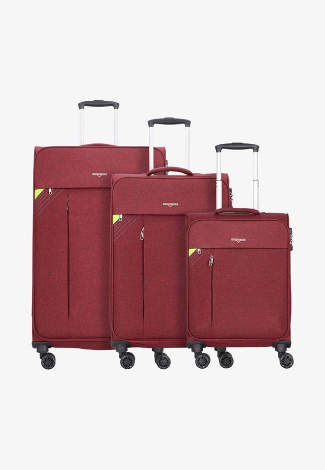 3 SETS - Luggage set - bordeaux