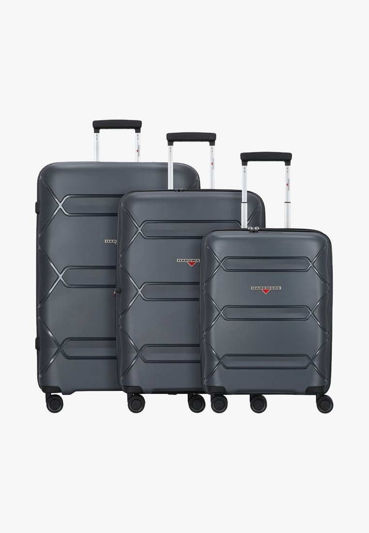 Hardware - 3PACK - Luggage set - dark grey