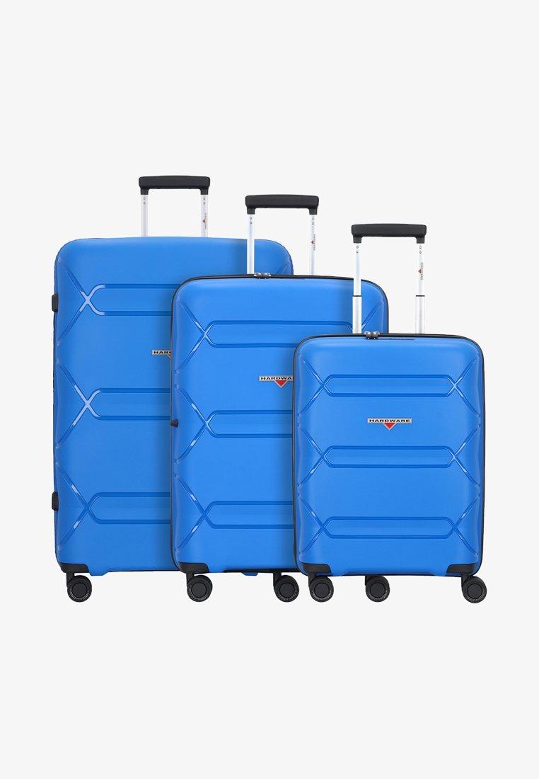 Hardware - 3PACK - Luggage set - cobalt blue