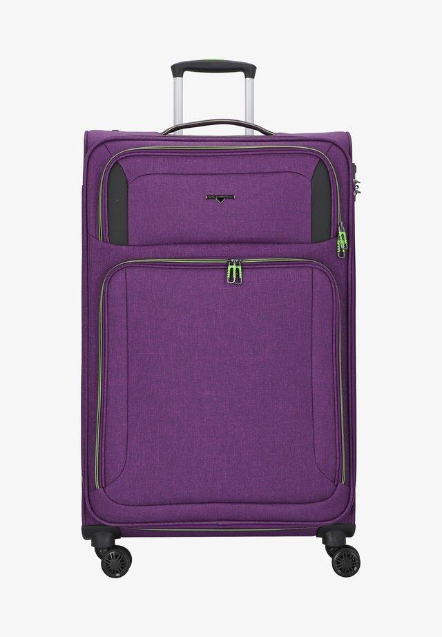 Wheeled suitcase - bright purple
