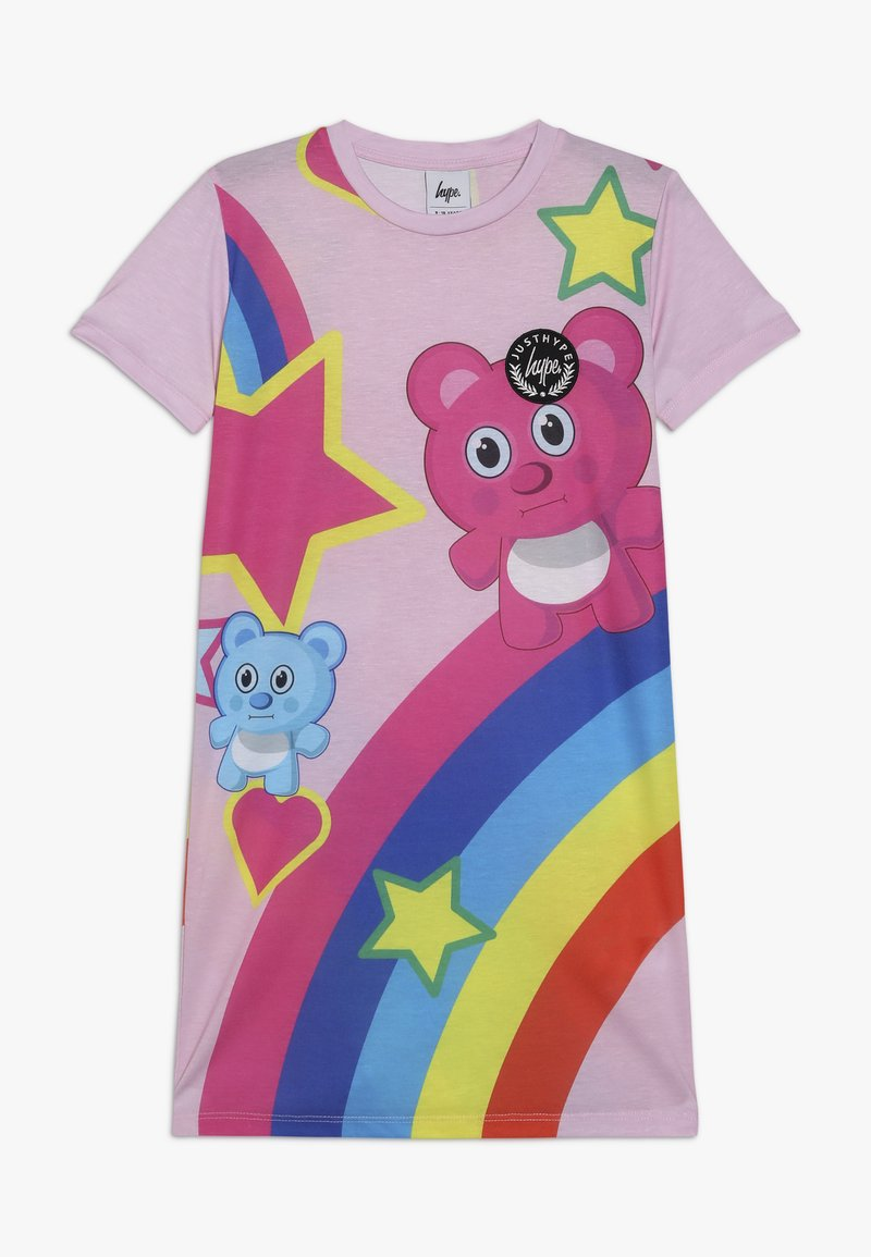 Hype - KIDS TEE DRESS RAINBOW BEAR - Jerseyjurk - pink
