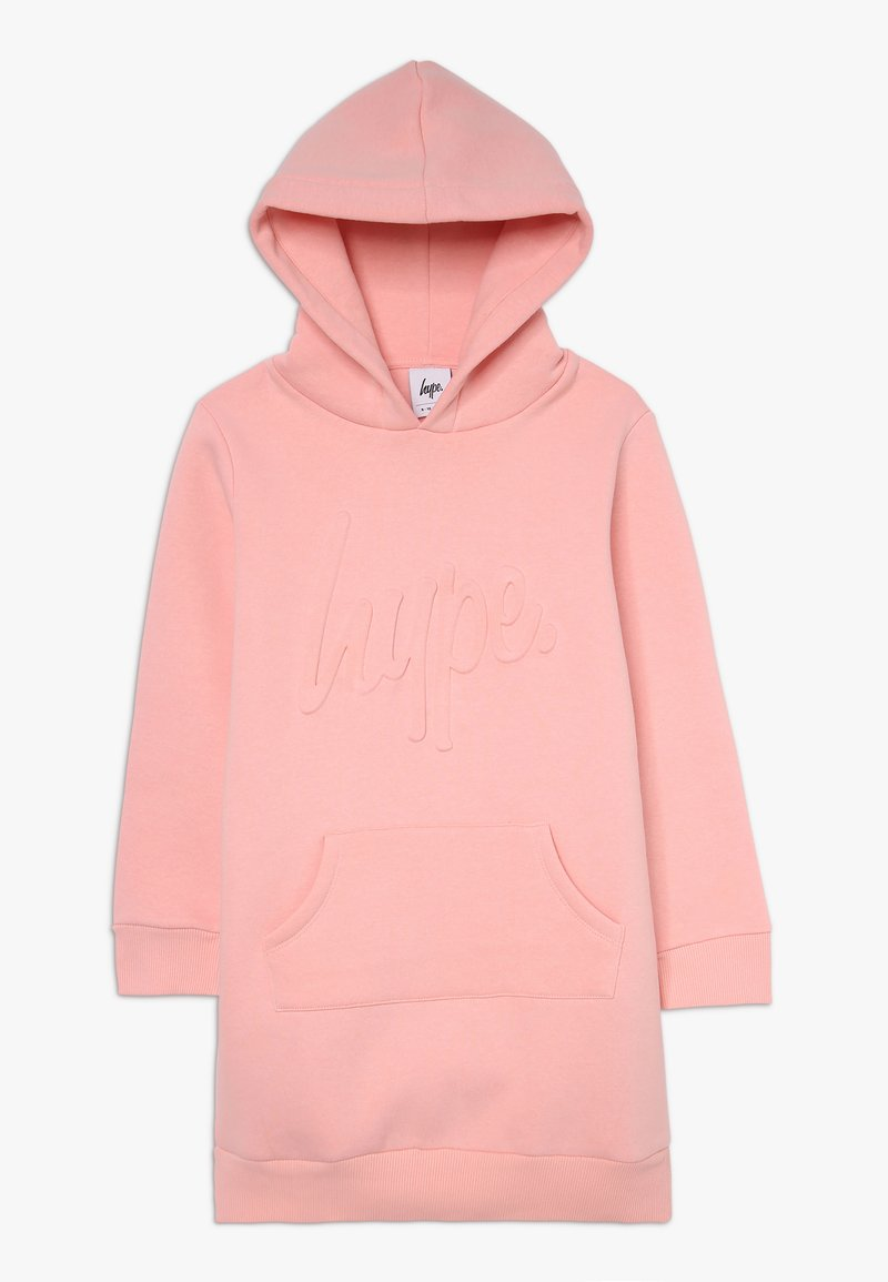 Hype - KIDS HOODIE DRESS EMBOSSED SCRIPT - Day dress - pink